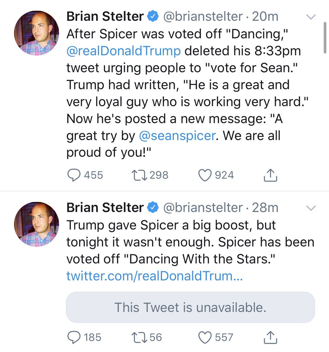 .@brianstelter has officially tweeted more about a dance show than two mainstream networks colluding to fire a female employee for exposing a network anchor revealing her story about a high profile pedophile  was spiked.