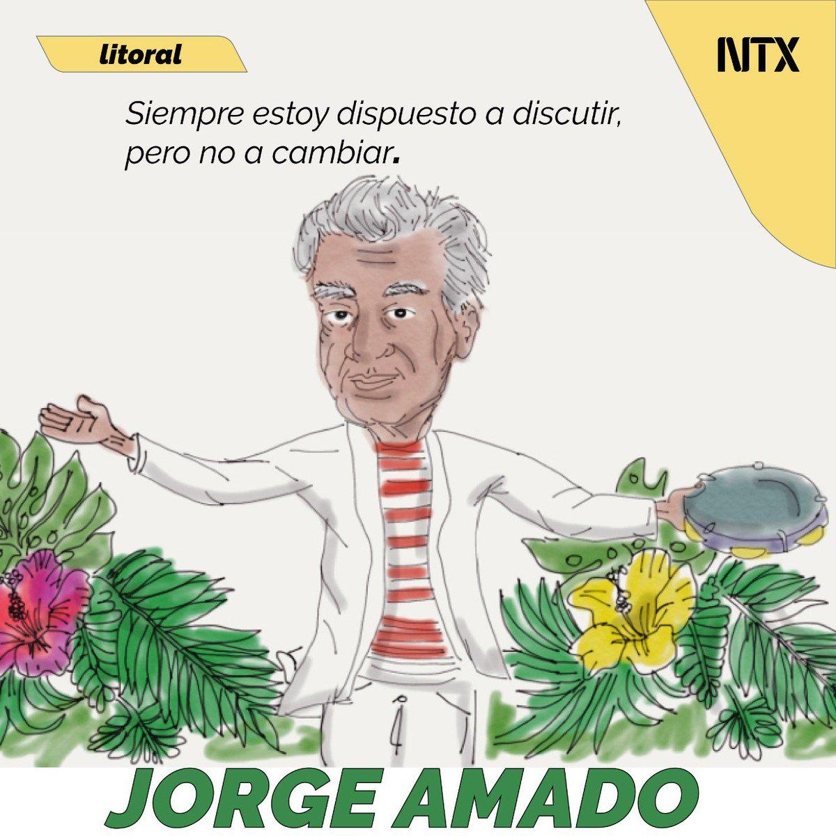 Hacer de la vida sencilla una obra literaria de proporciones universales fue la principal característica del escritor brasileño Jorge Amado. No te lo pierdas en #Litoral esta semana.➡️http://ow.ly/WKyb50x7XLj• #Notimex