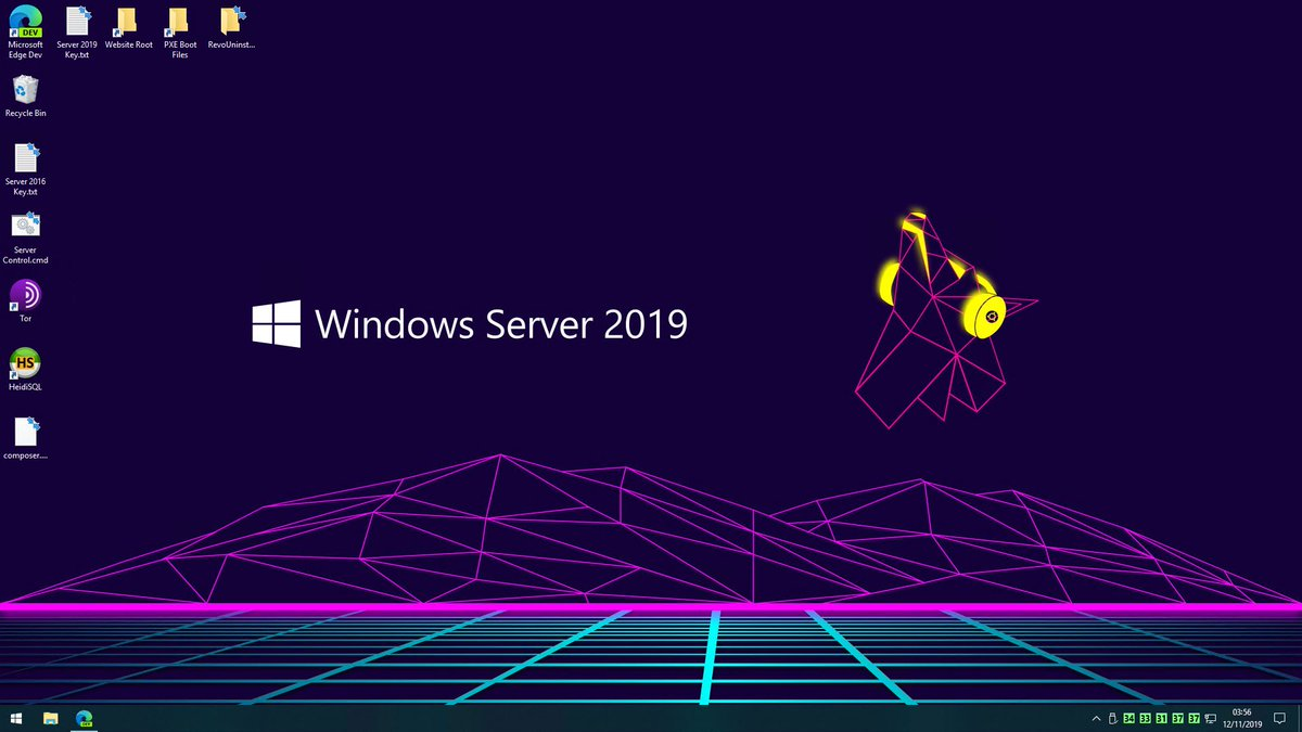 this wallpaper makes total sense now - ubuntu for website, server 2019 for everything else :3 <br>http://pic.twitter.com/cMQLAifSCk