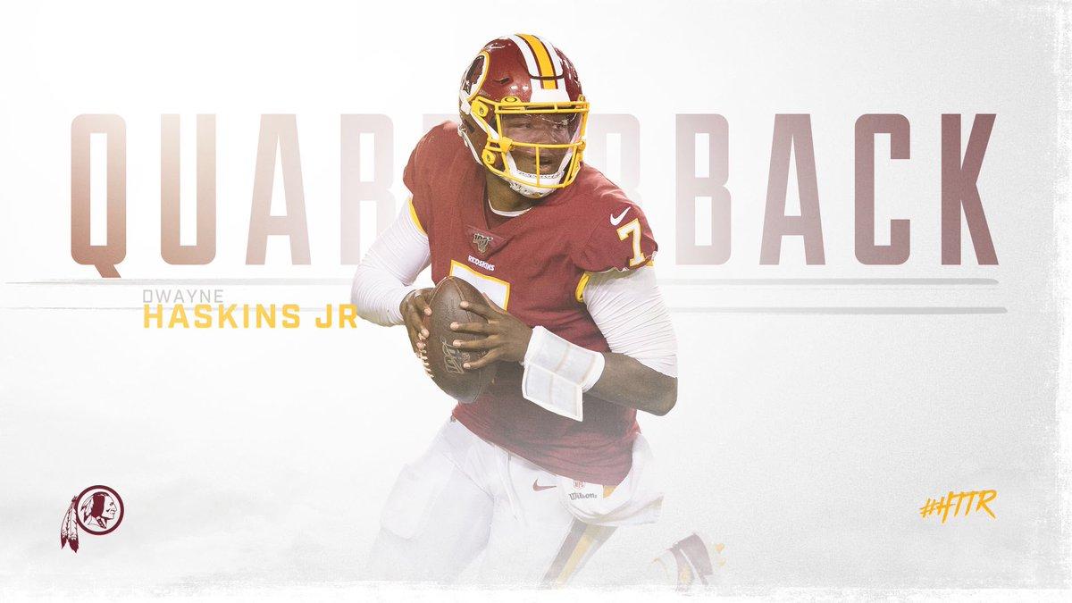 Este lunes, el entrenador en jefe de Pieles Rojas de Washington, Bill Callahan, confirmó a Dwayne Haskins como el mariscal de campo titular para lo que queda de la temporada regular de la Liga Nacional de Futbol Americano (NFL).📷 TW/@Redskins• #Notimex