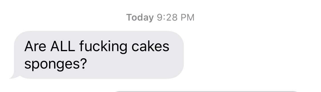 Can always tell when my mom's been watching #GreatBritishBakeOff — but also, fair question