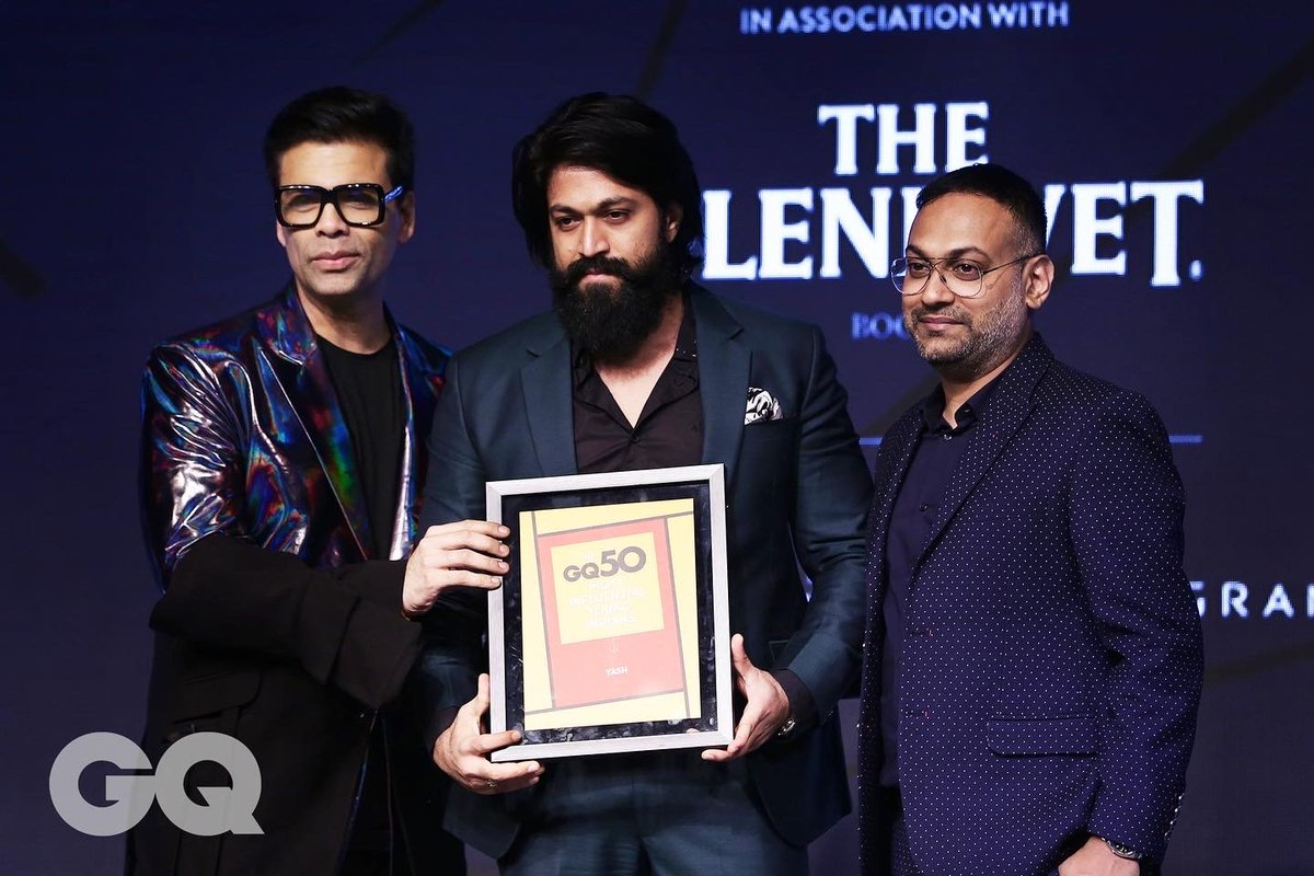 Truly humbled & honoured to be a part of @GQIndia's 50 Most Influential Young Indians list. Thank you for recognising the growth and the story we are weaving together as an industry. Thank you to all my fans & well wishers for their continued support and blessings! #TheNameIsYash https://t.co/JwdH7xuUsL