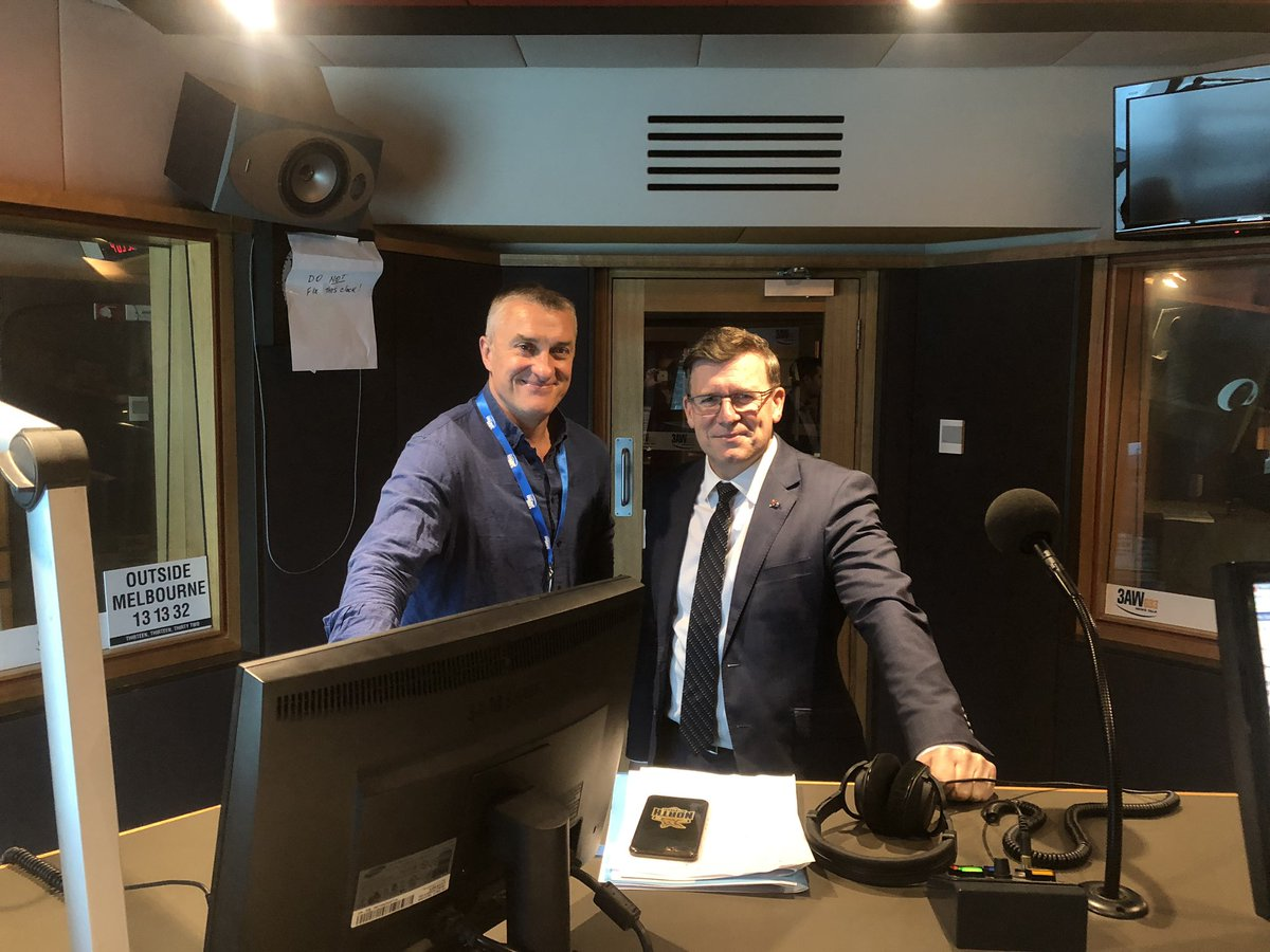 About to chat with @TomElliott3AW about our plan to manage Australia's future population #auspol