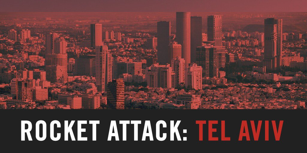 🚨 RIGHT NOW: Air-raid sirens sounding in Tel Aviv.