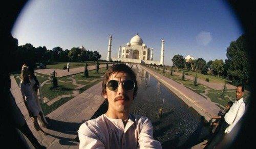 Selfies of #GeorgeHarrison taken in India in 1966 #TheBeatles