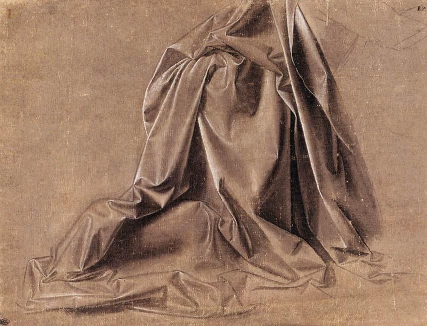 Drapery for a seated figure, 1470 #leonardodavinci #highrenaissance <br>http://pic.twitter.com/RRBBrusWpI
