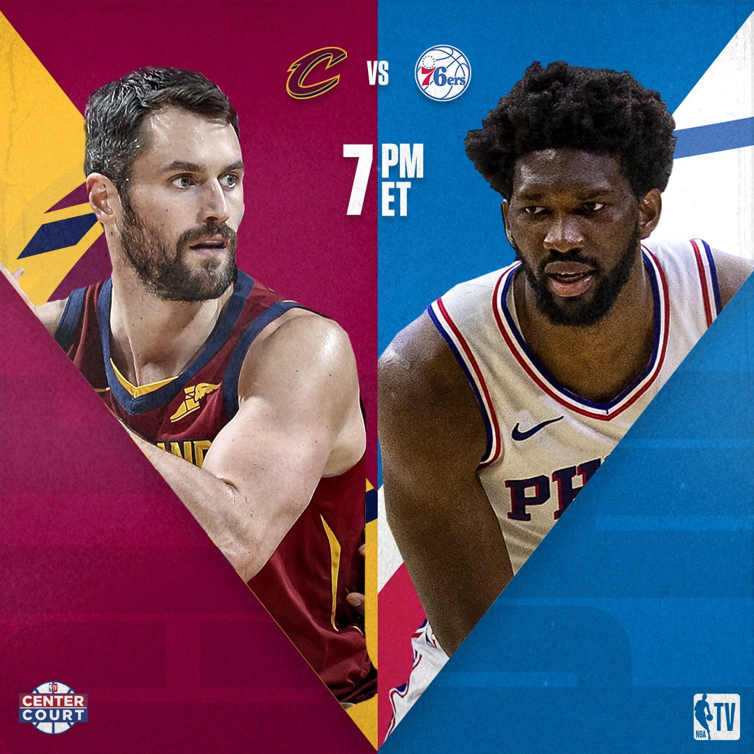 We've got an exciting Center Court double-header tonight on NBA TV! 📺  @cavs vs. @sixers // 7:00pm ET @SacramentoKings vs. @trailblazers // 10:00pm ET