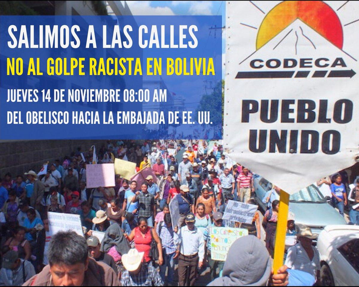 test Twitter Media - .@GtCodeca anuncia marcha el jueves 14 de noviembre a las 8:00 horas, del Obelisco hacia la Embajada de EE.UU. https://t.co/FUJFFniqWP