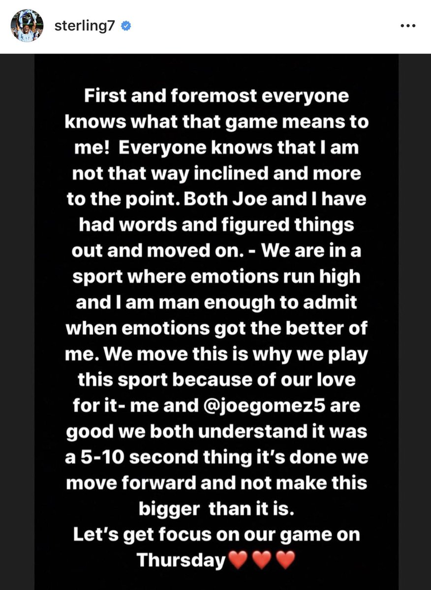 Sterling's response to clash with Gomez 👀 #LFC