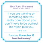[CALENDAR] #DailyMotivation from Steve Jobs. #HPU365