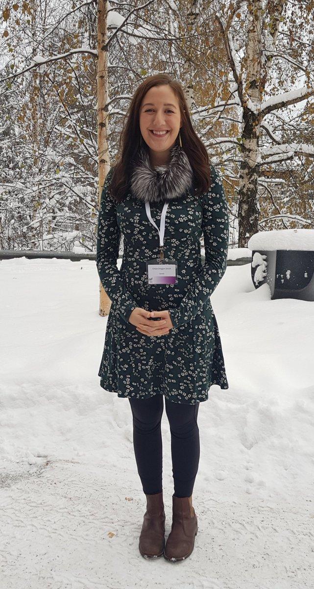 Super que Chloe Dragon Smith, l'éducatrice d'Yellowknife, ait eu la chance de venir à la conférence #ArcticSpirit pour partager ses connaissances!  #Rovaniemi #ArcticSpirit #changementclimatique  #youth #Personnes Autochtones @gryphonsmith