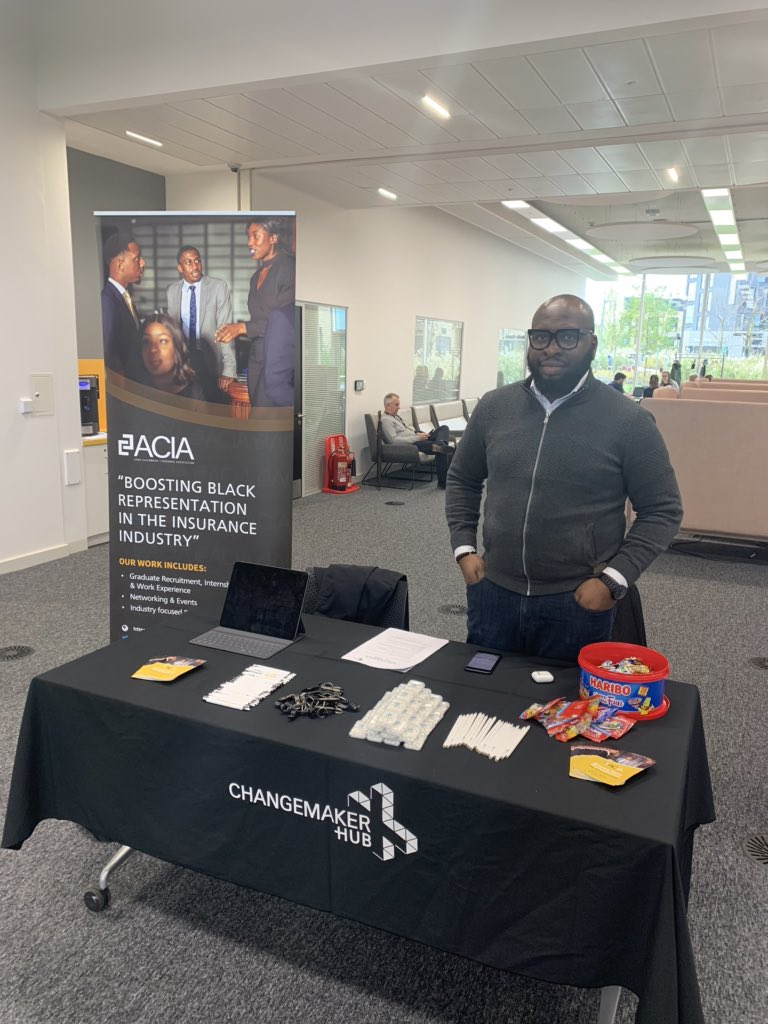 Interested in a career in Insurance ?   Catch the Afro-Caribbean Insurance Association (ACIA) today at the @UniNorthants @NN2ACS_   #University #CareersFair #insurance #LloydsofLondon #Students #Freshers2019 #Northampton