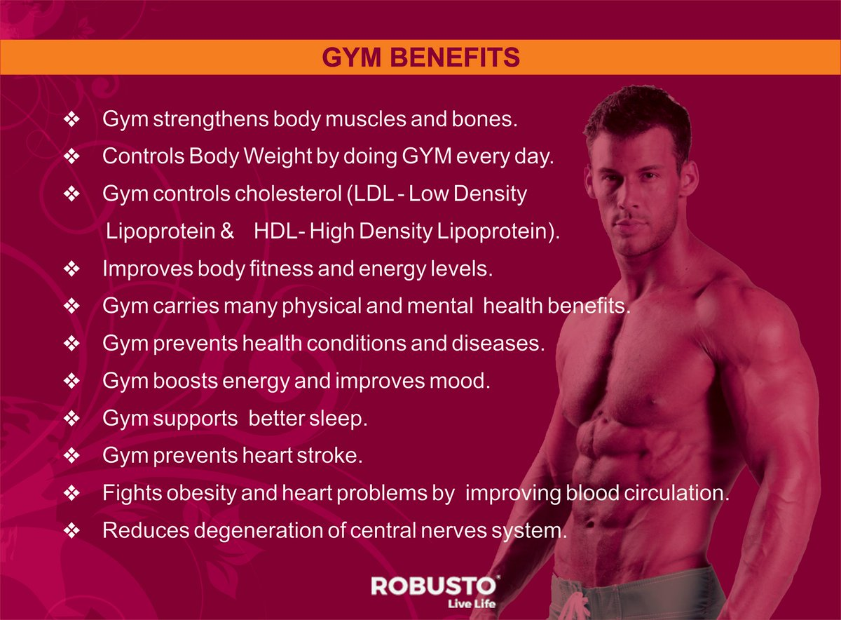 Benefits of going #Gym #Robusto #bestfitnesscenter in #bangalore #wellness #Exercise #TuesdayMotivation Reach Us @ 7022725001 or