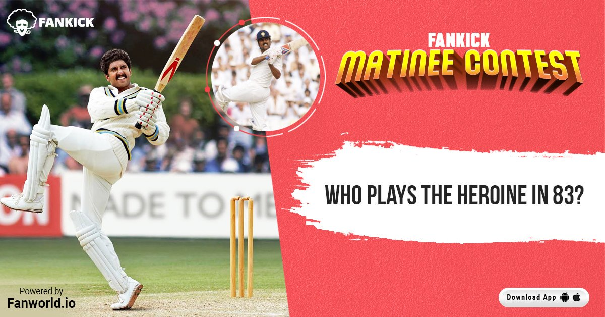 Kapil's Devils created history by clinching the ICC World Cup for the first time in 1983. Relive this historic moment and win exciting vouchers by participating in FanKick Matinee Contest. #FankickMatineeContest #MatineeShow #ContestAlert #Win #RanveerAsKapil #83Film #KapilDev<br>http://pic.twitter.com/VnPGNy0dF7