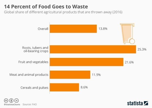 test Twitter Media - About 14% of the world's food is lost before it even reaches stores (via @FAOstatistics) #WorldFoodDay @antgrasso #ai #deeplearning #iot CC @MIKEQUINDAZZI HT @StatistaCharts https://t.co/1aOGU3Bktq