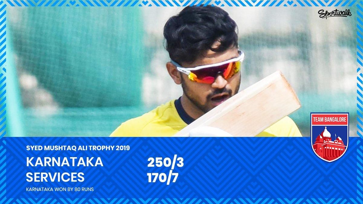 👏 2 DAYS 2 WINS! Manish Pandey's unbeaten 💯 help Karnataka beat Services by 80 runs.📸 DH | #syedmushtaqalitrophy #devduttpadikkal #ManishPandey #nammakpl #rcb #klrahul #bcci #VijayHazareTrophy #karnatakacricket #kpl #teambangalore #Cricket #Sportwalk