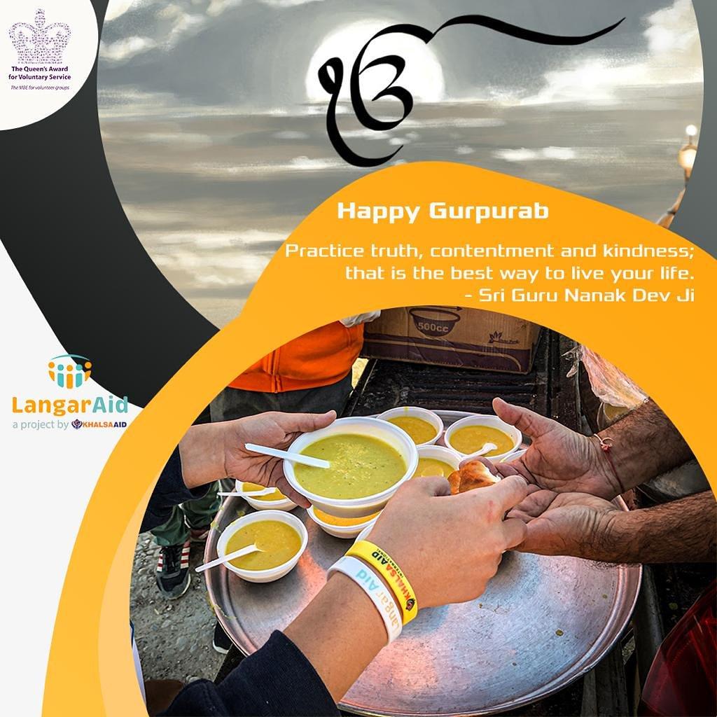 Happy 550th Gurpurab to everyone! 🙏🏾🙏🏾 @Khalsa_Aid