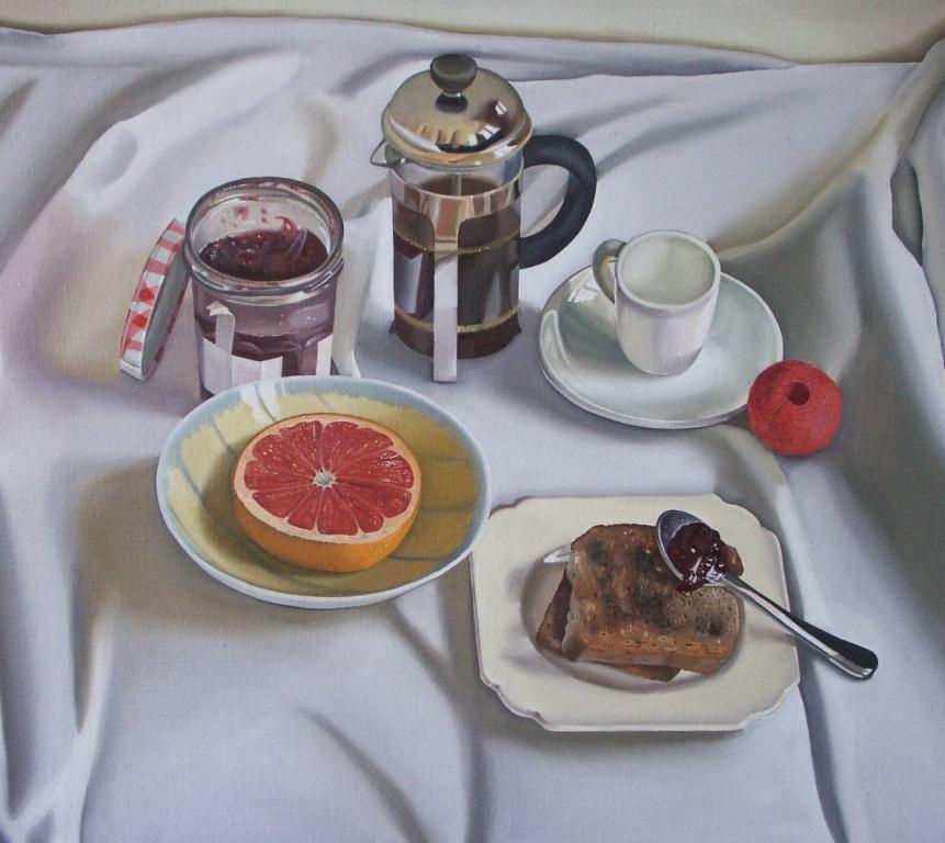 Art for breakfast... #SaulRobertson