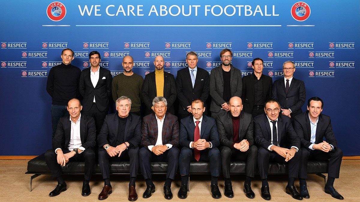👔🔝 ¡#Zidane estuvo presente en el Foro de Entrenadores de Clubes de Élite de la @UEFA! #HalaMadrid