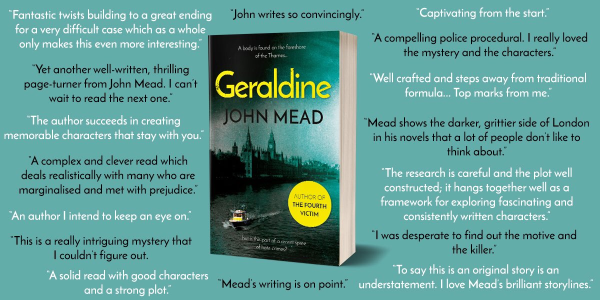 GERALDINE 'fantastic twists and building to a great ending for a very difficult case which as a whole only makes this read even more interesting.' - @booksandemma #TuesdayThoughts #books #writing #MYSTERY #thriller smile.amazon.co.uk/Geraldine-John…