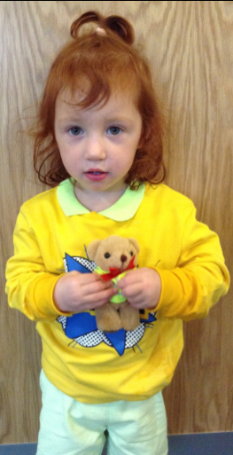 Our EYFS winner who won a prize for the 'Stand Out and be Seen' day for the brightest dressed.