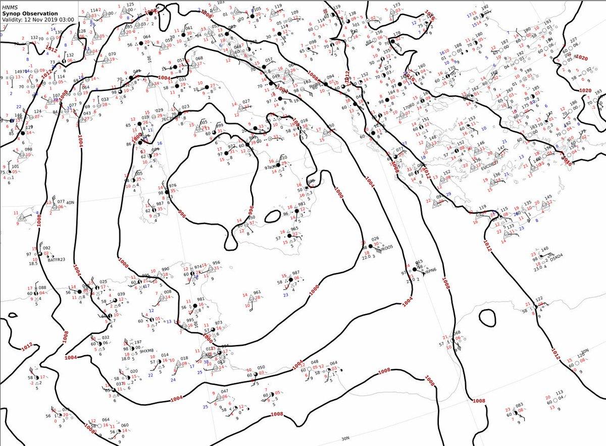 @Peter31537463 Καλά κάνετε και το αναφέρετε. Βασίζεται στην ανάλυση του συνοπτικού χάρτη της 12/11/2019-03:00 UTC