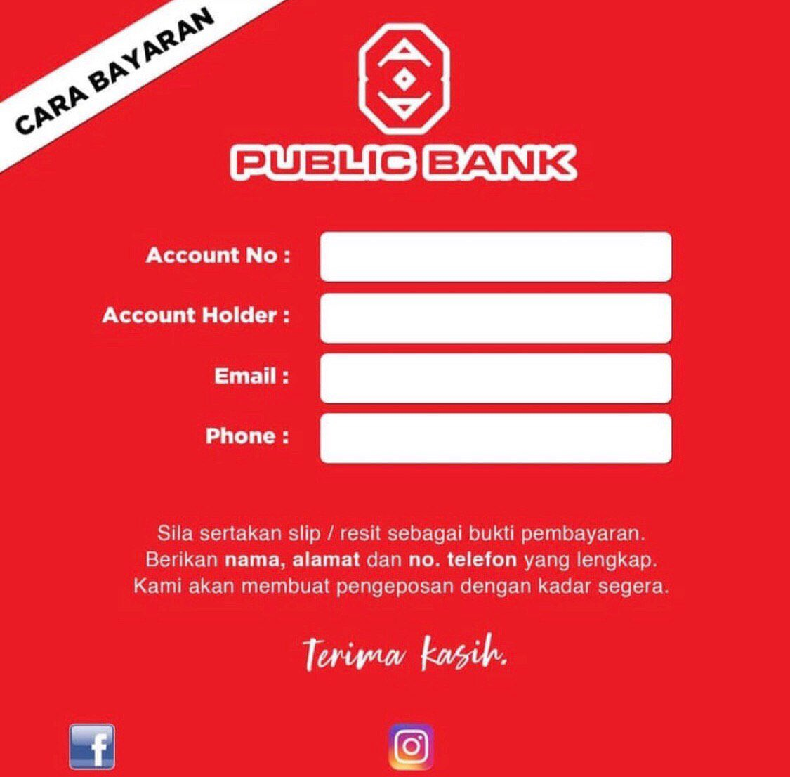 Fp Boss On Twitter Hai Gais So Harini Bos Nak Share Template Acc Bank Untuk Korang Letak No Acc Korang Takdelah Lepasni Terkial2 Nak Bukak Apps Then Ss No Acc Korang Kalau