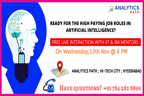test Twitter Media - Book Your Seat for #ArtificialIntelligence Free Interactive Session on 13th Nov at 6:00 PM Take This Chance To Interact With AI Experts, By #AnalyticsPath, Hyderabad. For Free Registrations: https://t.co/HaSJHdBCtA More Info: https://t.co/UhReczwDnr #DataScienceCourseInHyderabad https://t.co/7BR41g53ng