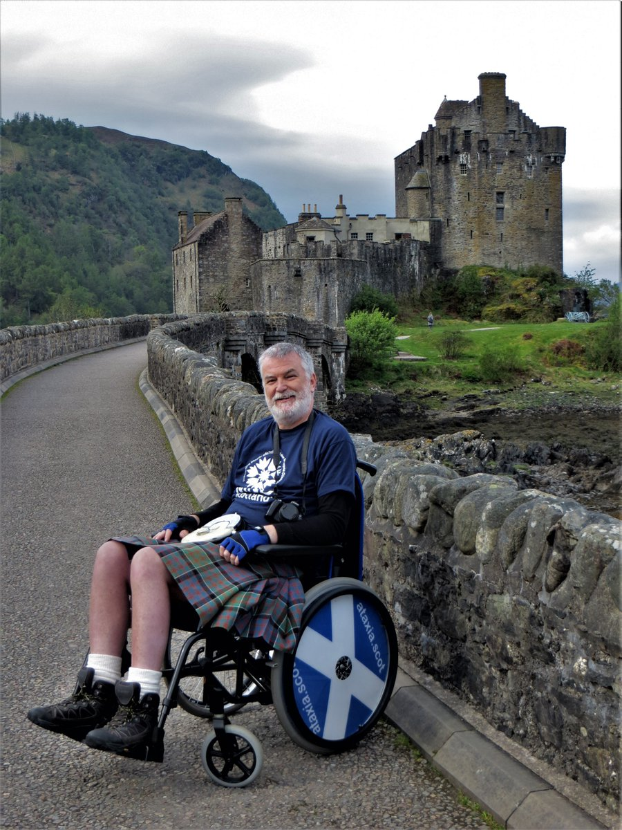 Thanks @Abfabtravels Too long ago to post Sydney photo (all film) but here's a recent favourite Eilean Donan - Kyle of #Lochalsh, #Scotland with @ataxiascot on his #Kiltwalk Wheelchair Tour of #Scotland @ScotRail trip.   Time for #ttot now! Catch you later. Thanks again.