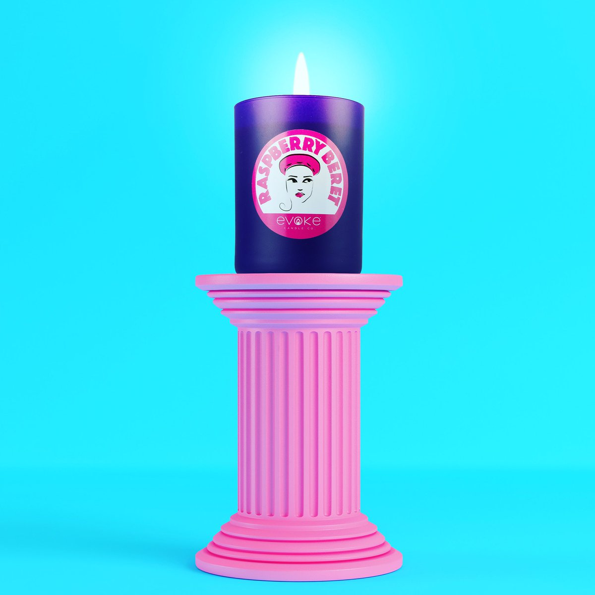 Love the colours of this candle, and it's yummy raspberry sangria scent reminds me of a warm sunny day ! #evokecandleco #peace #cheers #sangria #raspberryberet #fridayvibes #candlejunkie #princeinspired #candle #madeinusa #handpoured #womanowned #vegan