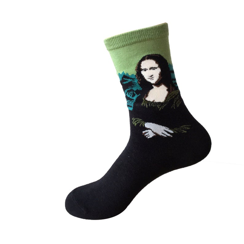 """#LeonardodaVinci """"The human foot is a masterpiece of engineering."""" If you're taking part in #OddSocksDay we recommend these socks.<br>http://pic.twitter.com/NVEmx8kvwx"""