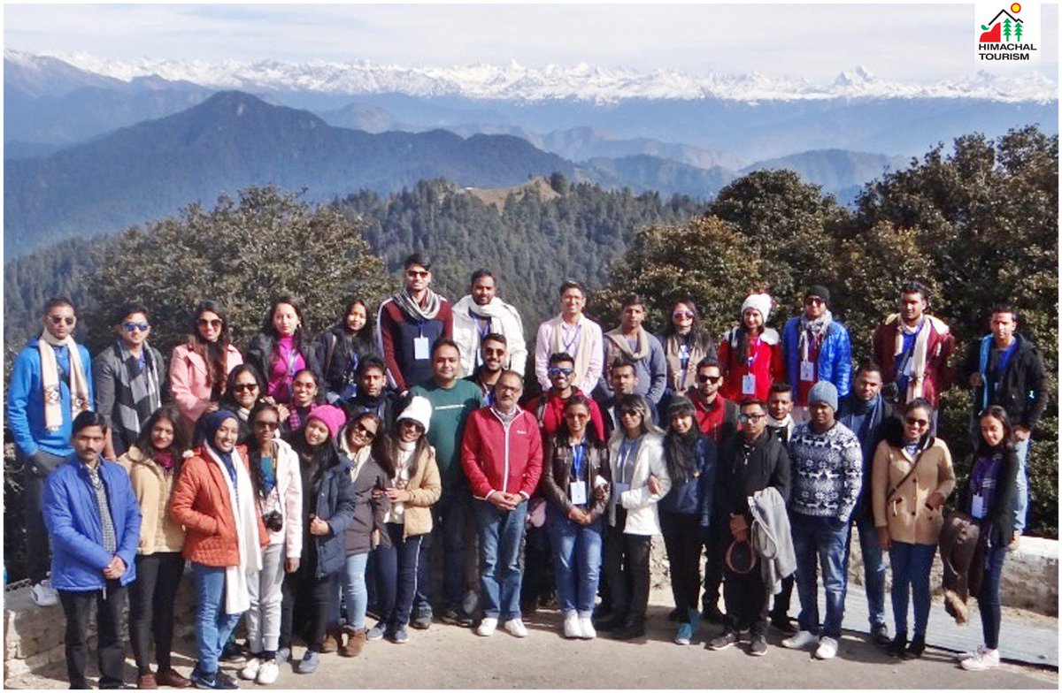 Participants of 57th #KnowIndiaProgrammevisited Hatu Peak (Narkanda) and had magnificent views of snow clad Himalayan peaks and bowed at Hatu Temple at 11152ft. height. Enjoying their stay in Himachal.@OIA_MEA@MEAIndia@indemtel@IndiainSL#HimachalTourismOfficial