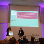 Our European Affairs Coordinator, Cate Brancart, presenting with @EASA's Head of Safety Promotion, John Franklin, about our collaborative efforts to promote aviation safety across Europe's #bizav community at today's @EBAAorg #SafetySummit19