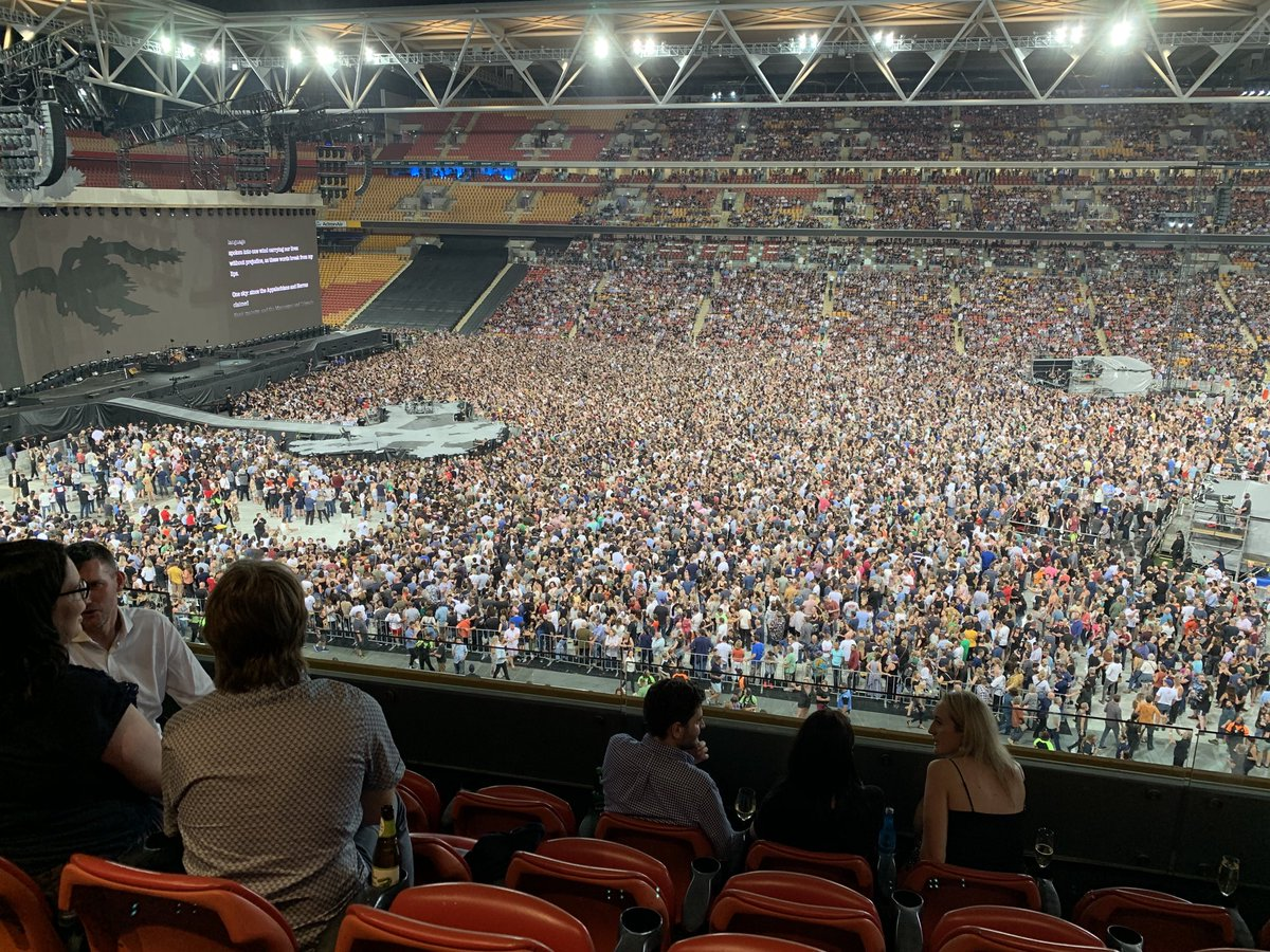 A few empty seats tonight at our show in Brisbane. Okay, maybe it was U2.