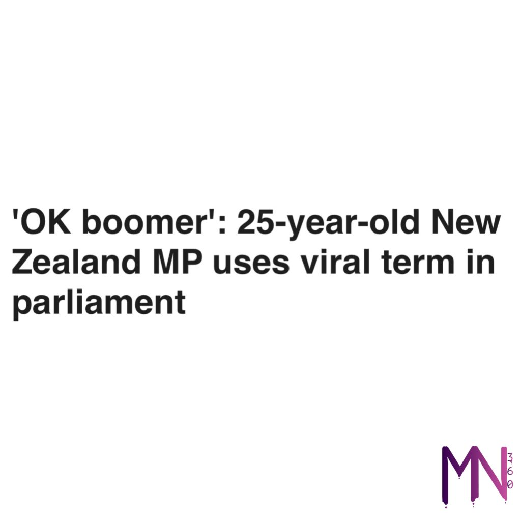 'OK boomer': 25-year-old New Zealand MP uses viral term in parliament #musicnews360 #cannabis #california #business #news #stocks #money #trump #democrats #nsfw