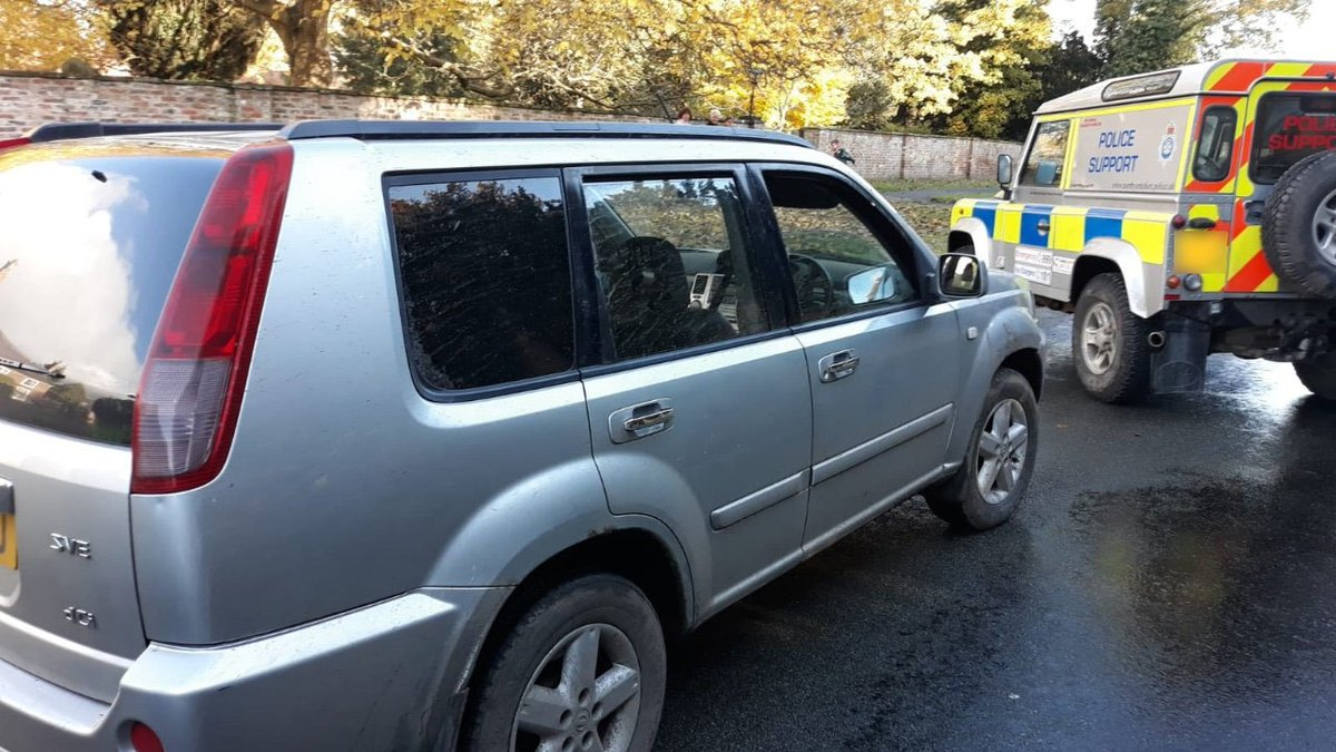 #Seized - another 4x4 suspected of involvement in poaching has been taken off the roads of North Yorkshire.  https:// northyorkshire.police.uk/news/seized-of ficers-take-uninsured-4x4-off-the-roads-after-poaching-reports/   …  #OpGalileo @HambletonRTF @NYPRuralTF<br>http://pic.twitter.com/7KpVVkLp55