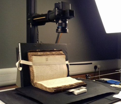 It's great to be working on the #digitisation of 16th-century English manuscripts. Today Add MS 48002 is on the imaging stand.   We'll soon be updating its catalogue record with a link to all the digitised images online:  #WatchThisSpace #TwitterTakeover