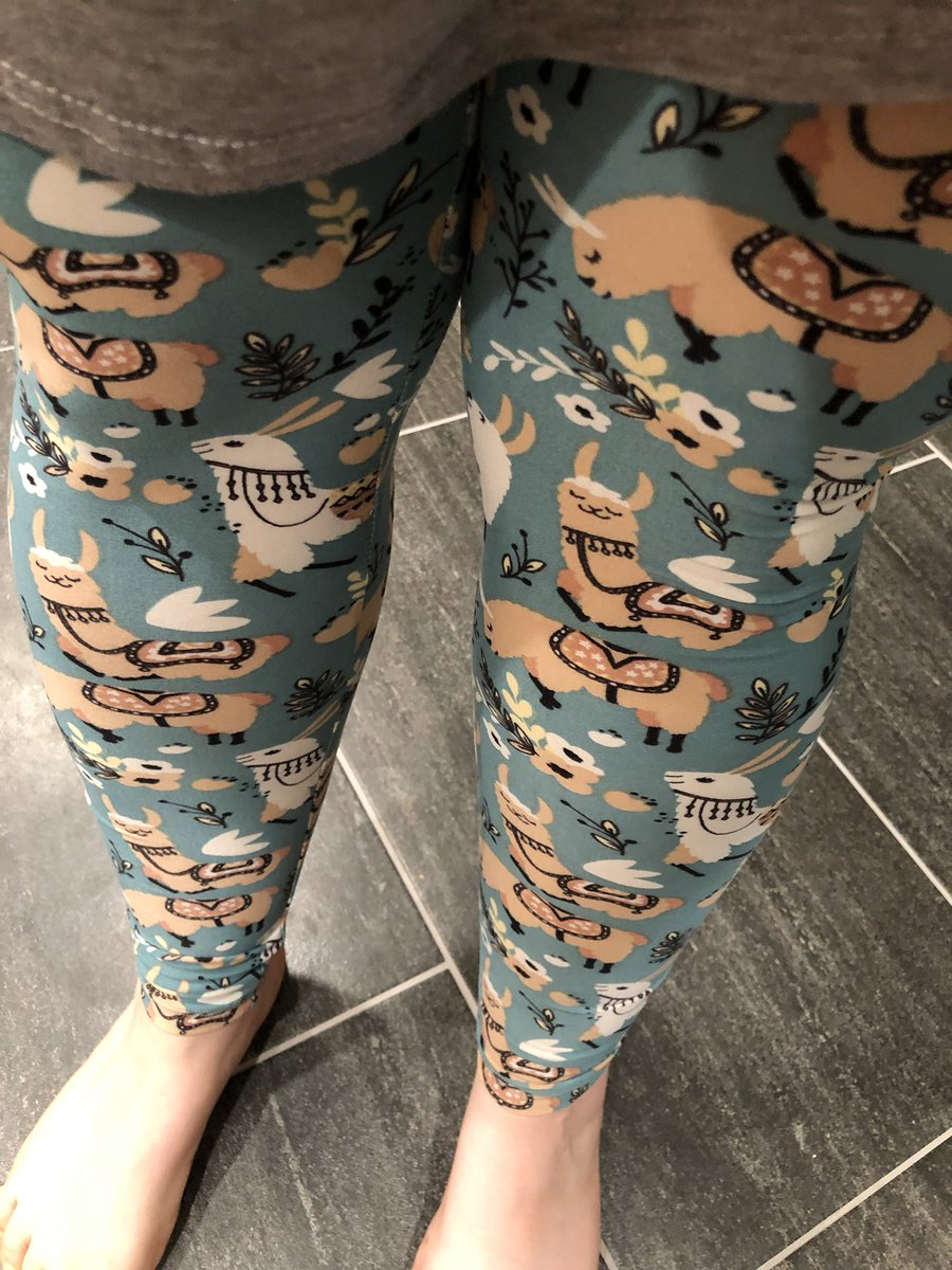 """Llama leggings! (File under my """"I don't usually pay full price for lula but..."""" collection)"""