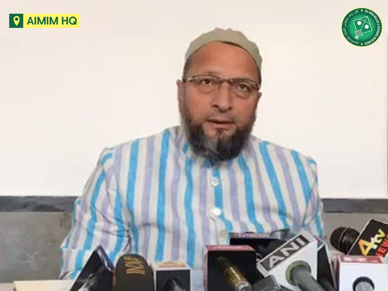 We dont want a piece of land in khairaat. Our struggle and patience for all these years were not for a piece of land. - @asadowaisi