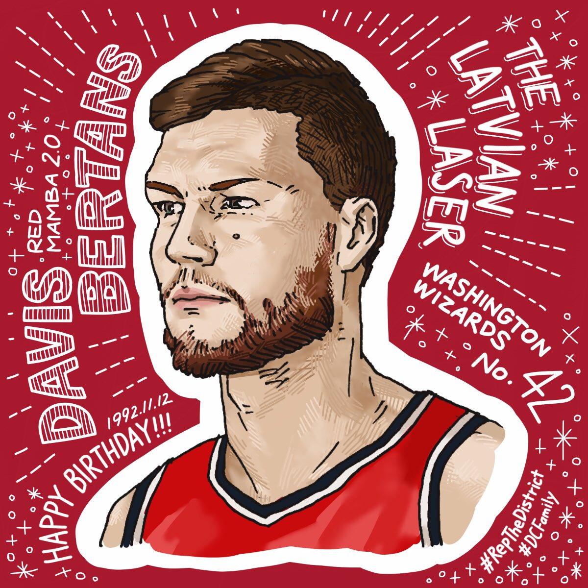 ダービス・ベルターンス Davis Bertans Washington Wizards | No.42 🇱🇻The Latvian Laser🇱🇻 Happy Birthday!!!🎉 #NBA #RepTheDistrict  #MQdrawing @DBertans_42  @washwizardsjp
