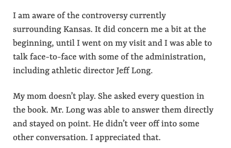 Bryce Thompson talks here about how KU approached its current NCAA situation during his recruiting visit. Via the @tulsaworld (more at link below):  https://www. tulsaworld.com/sports/high-sc hool/why-i-picked-kansas-five-star-recruit-bryce-thompson-explains/article_f96addb4-5db1-5e6a-94ab-0b814cbd5afc.html   … <br>http://pic.twitter.com/Ngl1N3YZVF