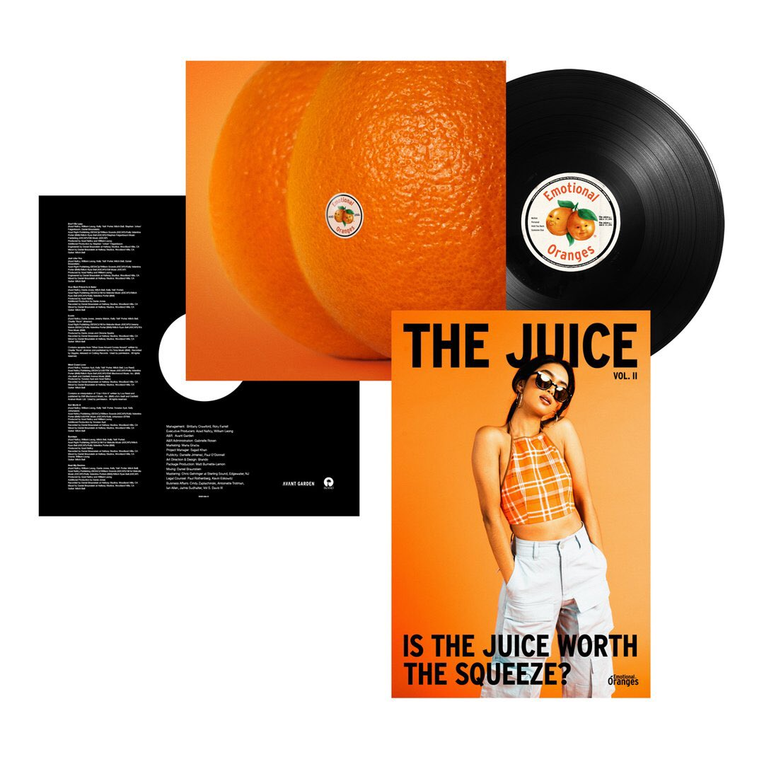 the juice vol. ii vinyl pre-order available now, ships january 2020 🍊  http://emoranges.com