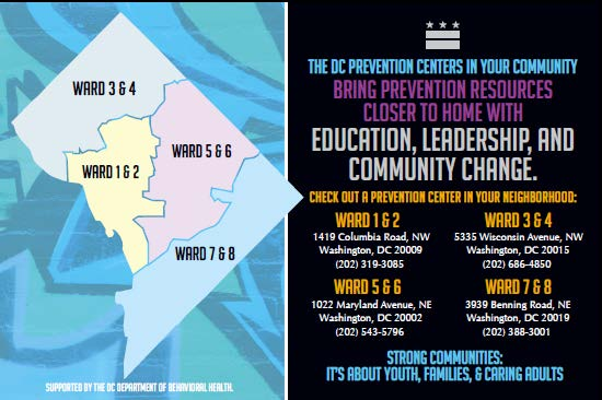 Our DC Prevention Centers engage, support & connect DC communities to promote healthy, drug-free youth. Follow our DCPCs to participate in activities & learn about drug and alcohol prevention in DC.