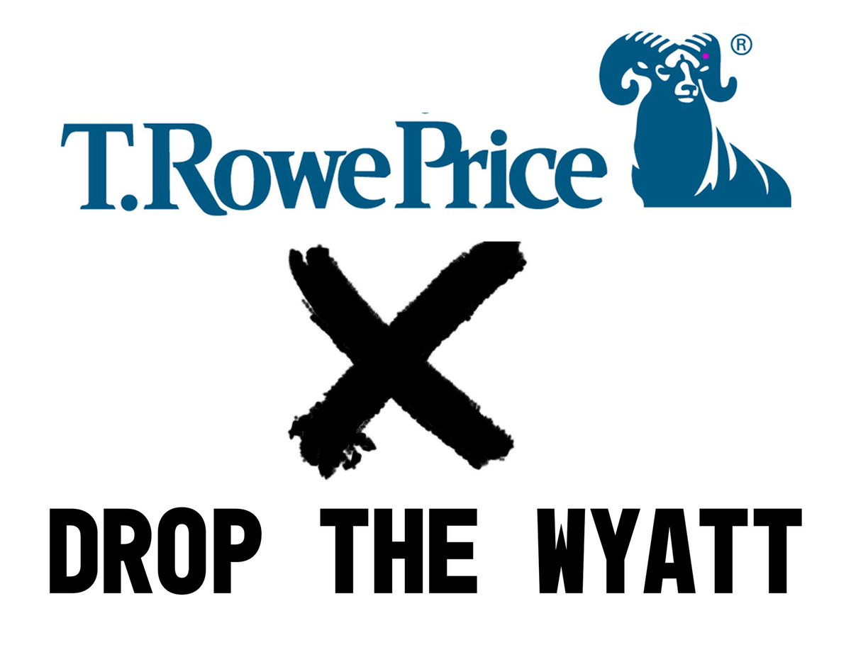 """On their website, @TRowePrice says their """"emphasis is on...partnering with communities to understand their needs and make them stronger."""" They clearly do not understand the needs of Rhode Island: to #DumpTheWyatt HQ: 410-345-2000"""
