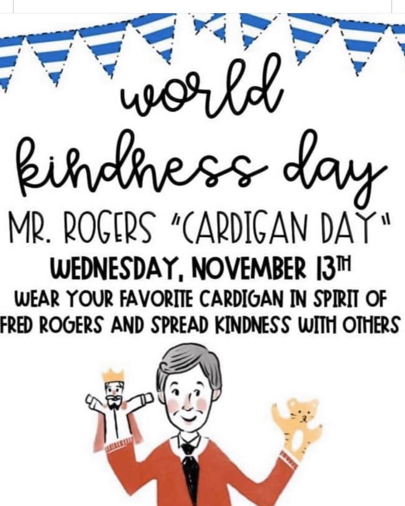 Okay FSOE students, I know it's short notice, but let's see your sweaters in Shambaugh tomorrow! #TeacherByTrine #WorldKindnessDay #CardiganDay<br>http://pic.twitter.com/MoPMwiEPFW