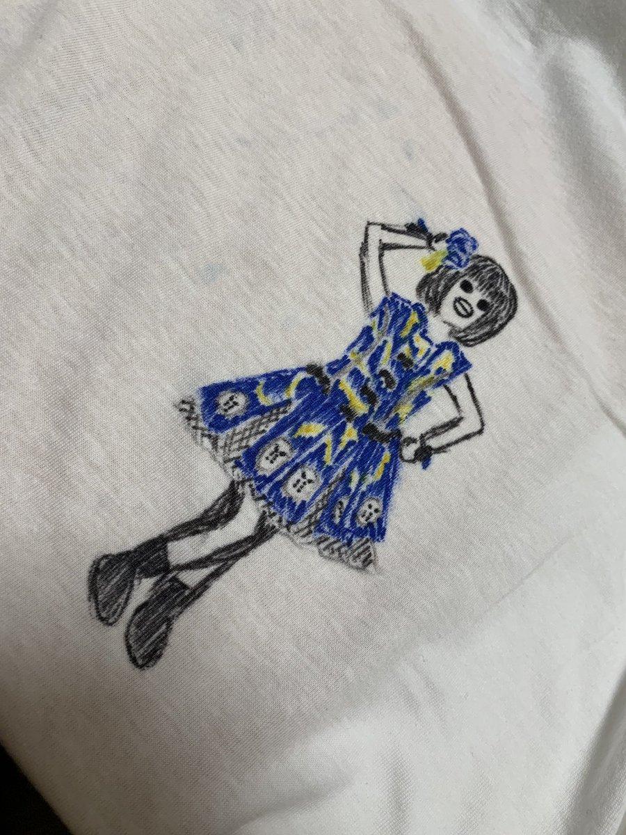 11月30日(土)仮面女子cafe1部乙木伽奈生誕祭福袋の落書きTシャツ第2弾!!!ちょっと脚が可笑しなことになってます!w大目にみてね(*´ω`*)✨是非ゲットしてみてください💜