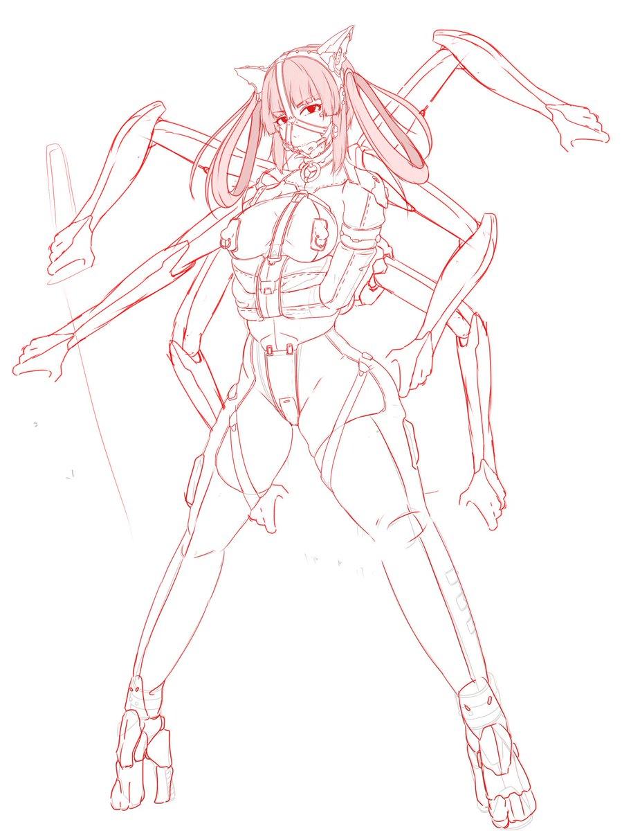 前の子を魔改造して半サイボーグの色々訳アリな娘を新たに!MGRのミストラル姉さんの影響を強く受けている