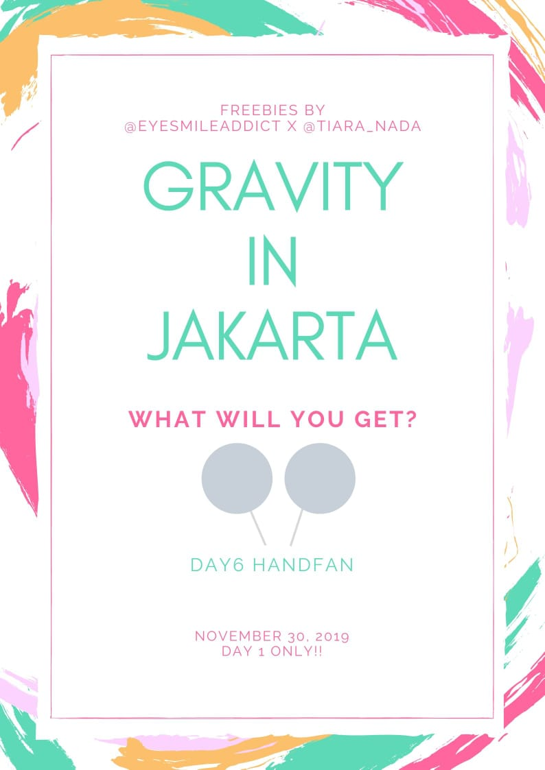 [ HELP RT ]   DAY6 GRAVITY IN JAKARTA FREEBIES by @eyesmileaddict &        @Tiara_Nada   Saturday 30th November 2019  Tennis Indoor Senayan  For more information about the rules check the pict below. Place and time TBA ~ See you MYDAY   #DAY6GRAVITYinJKT #GRAVITYinJKT #DAY6  <br>http://pic.twitter.com/BIayaneqLS