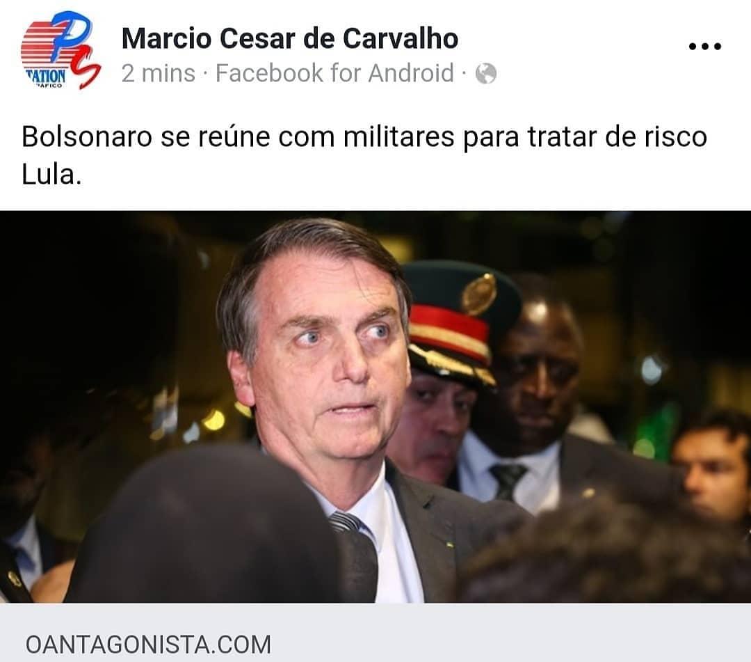 Bolsonaro meets with military to address Lula's risk.