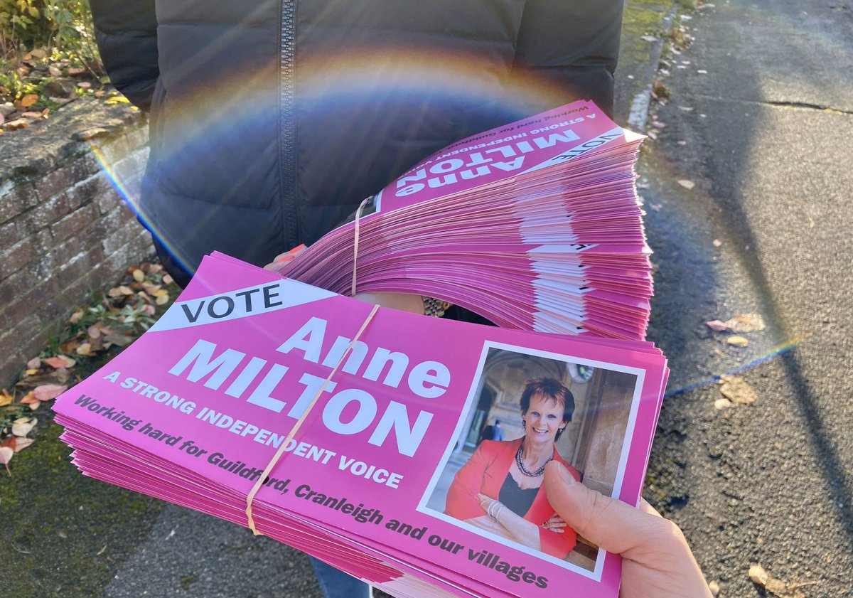 Out on the campaign trail bright and early this morning and overwhelmed by the support. Do email me at anne@annemilton.com if you'd like to help out!